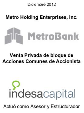 DIC 2012 - METROBANK