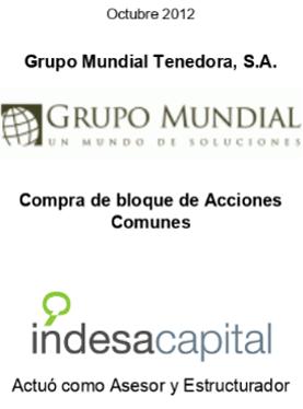 OCT 2012 - GRUPO MUNDIAL TENEDORA