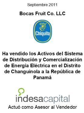 SEP 2011 - CHIQUITA