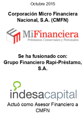 OCT 2015 - MIFINANCIERA